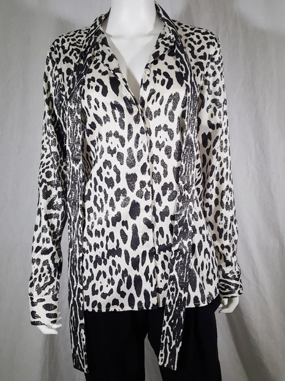vintage Haider Ackermann leopard blouse with bowtie fall 2015 153118