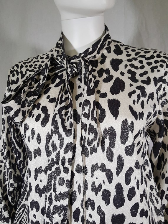 vintage Haider Ackermann leopard blouse with bowtie fall 2015 153259