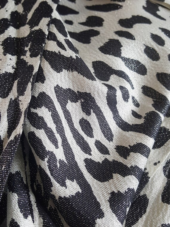 vintage Haider Ackermann leopard blouse with bowtie fall 2015 172428