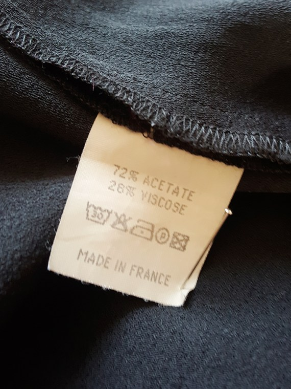archive Maison Martin Margiela black sleeveless dress with circular hem — spring 2002