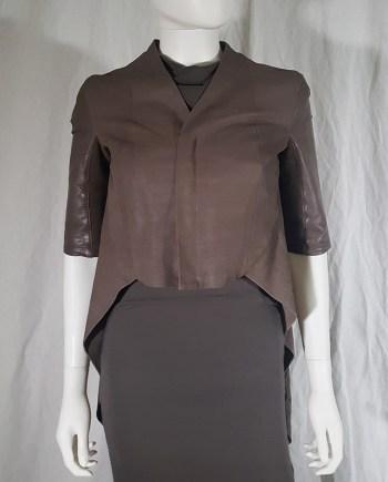 Rick Owens ANTHEM brown leather geometrical jacket — spring 2011