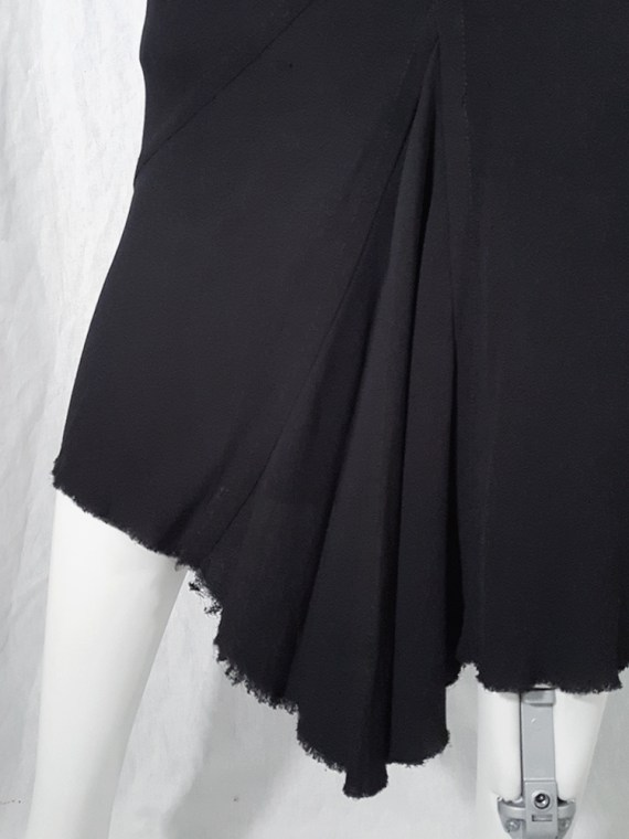 vintage Rick Owens TRUCKER black midi-length mermaid skirt fall 2003 144620