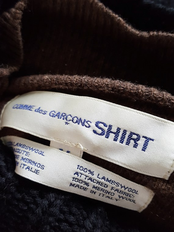 vintage Comme des Garcons Shirt black and brown double layered jumper 154401