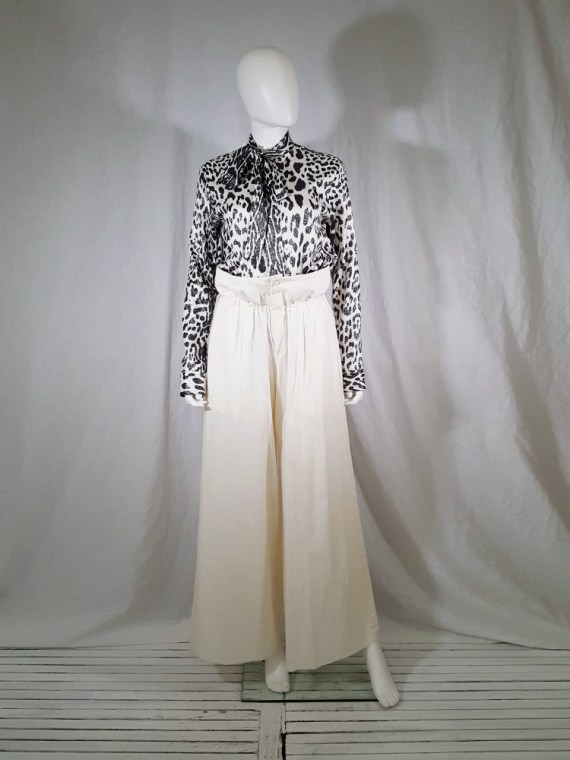 vintage Comme des Garcons white trousers with standing waist AD2001 spring 2002 154122