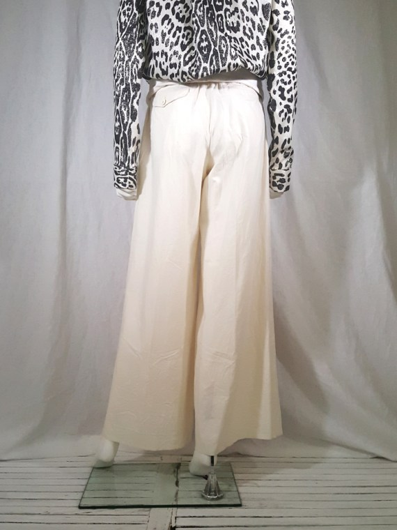vintage Comme des Garcons white trousers with standing waist AD2001 spring 2002 154729