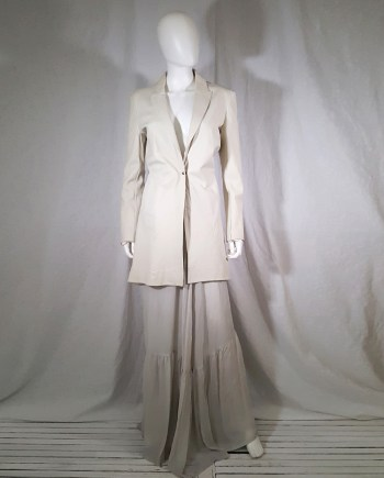 vintage Isaac Sellam white leather jacket with contrasting back