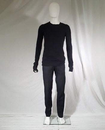 Mads Nørgaard black simple straight leg trousers
