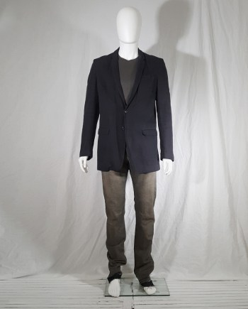 Maison Martin Margiela grey one button blazer — spring 2004