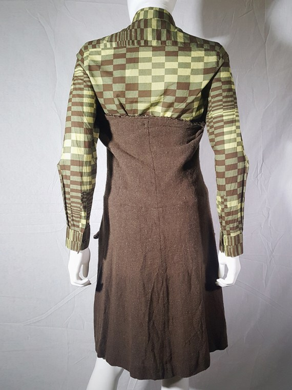 Comme des Garcons brown strapless button up dress fall 1994 170721