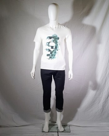 Maison Martin Margiela white t-shirt with key print — fall 2009
