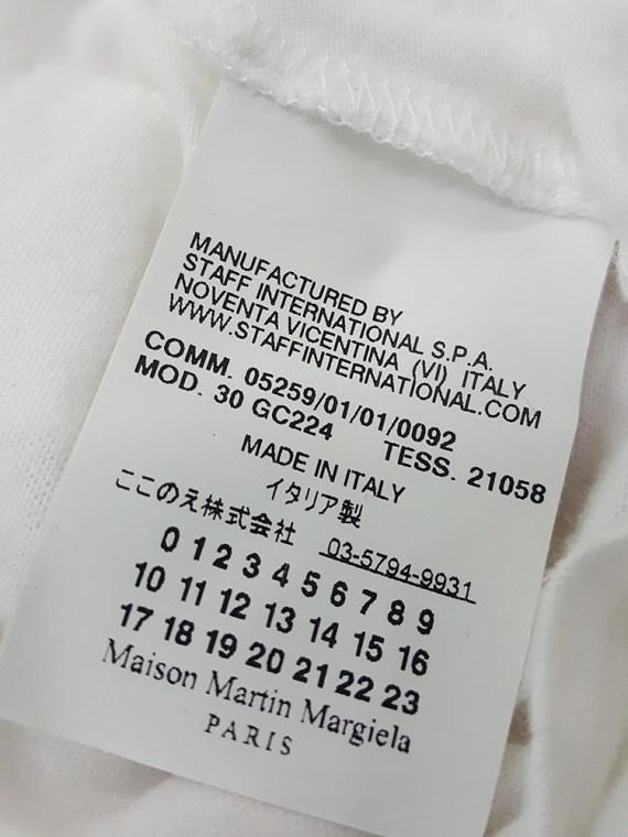 Maison Martin Margiela white t-shirt with key print fall 2009 181737