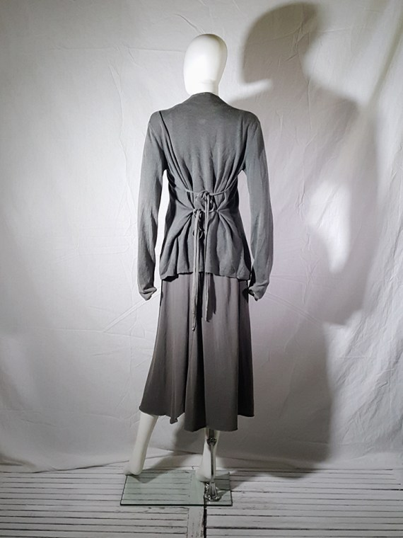 vintage Ann Demeulemeester grey cardigan with back straps 175012(0)
