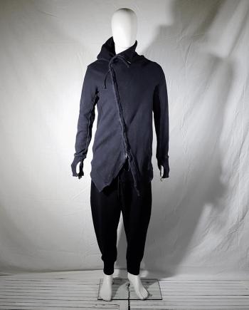 11 by Boris Bidjan Saberi black asymmetric cardigan