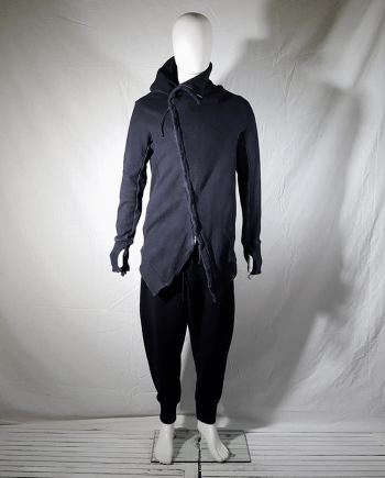 11 by Boris Bidjan Saberi black asymmetric cardigan