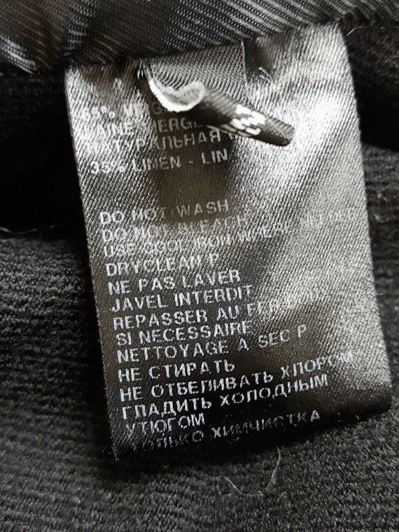 Ann Demeulemeester black double breasted winter coat