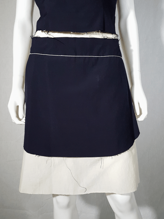 Comme des Garçons black and white top and apron — spring 1998