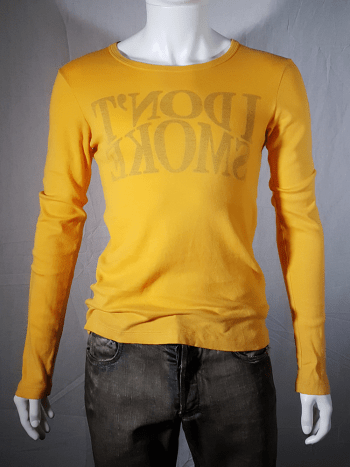 Maison Martin Margiela yellow I dont smoke jumper fall 2006