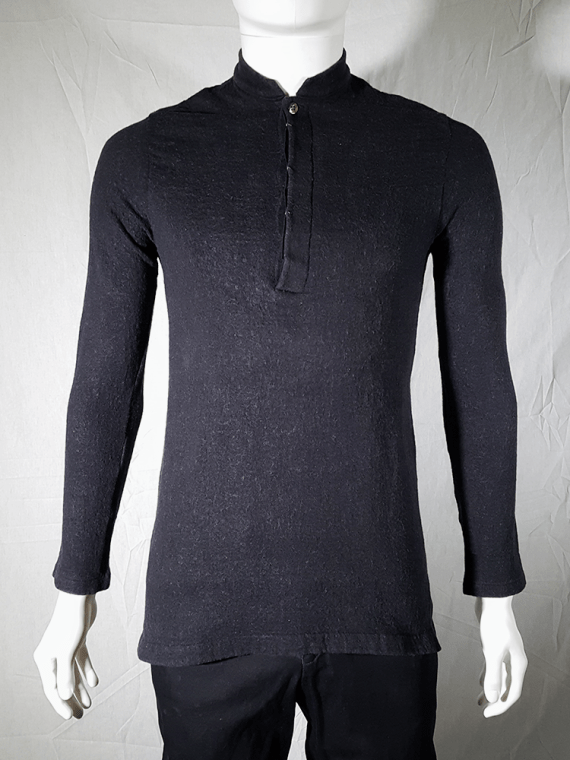 Y's for men grey jumper with mao collar — 90's