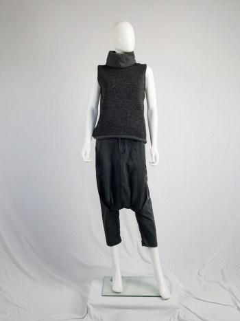 Comme des Garçons grey drop crotch trousers — fall 2009
