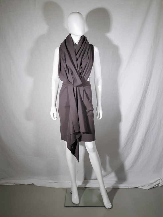 vintage Haider Ackermann brown draped dress or skirt runway fall 2009 193322