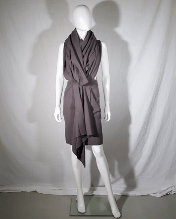 Haider Ackermann brown draped dress or skirt — fall 2009