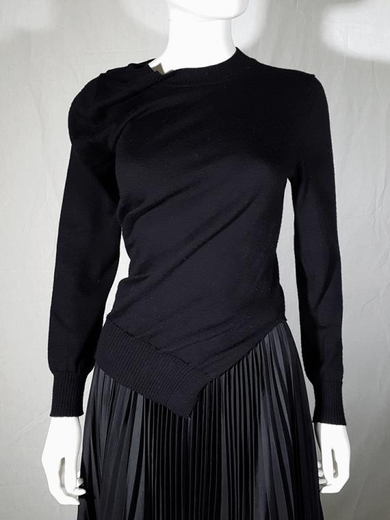 vintage Junya Watanabe black twisted jumper fall 2007 164708