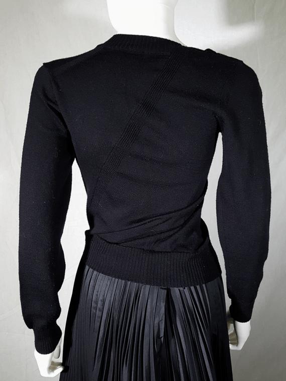 vintage Junya Watanabe black twisted jumper fall 2007 164920