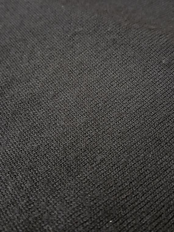 Junya Watanabe black twisted jumper — fall 2007