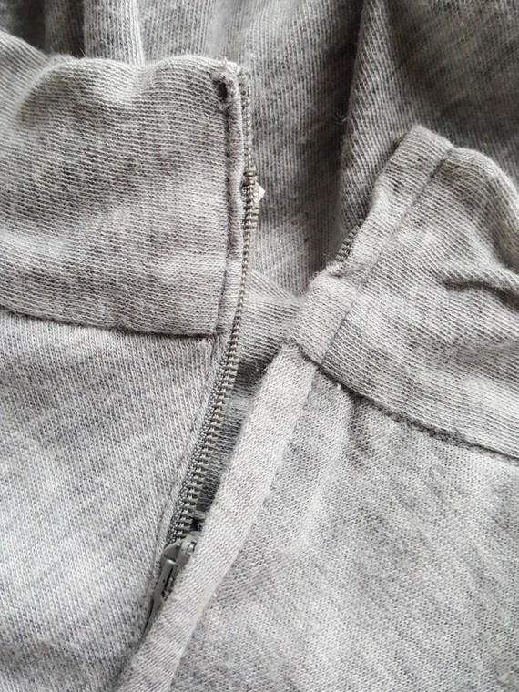 archive Comme des Garcons grey draped top 1980's 151655(0)