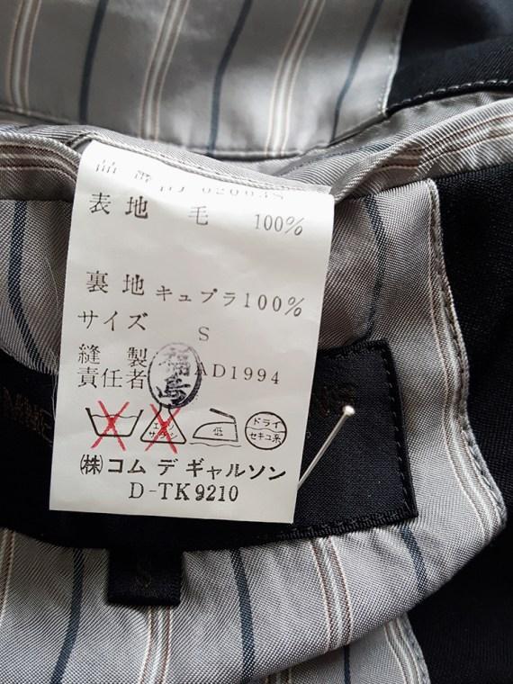 vintage Comme des Garcons Homme black belted blazer AD 1994 123248