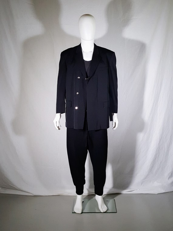 vintage Comme des Garcons Homme black belted blazer AD 1994 180144