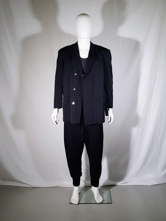 Comme des Garçons Homme black belted blazer — AD 1994