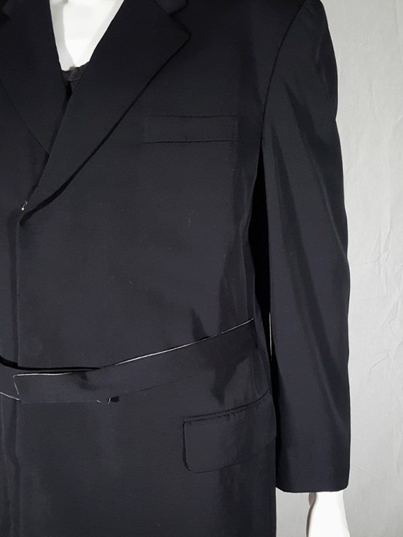 vintage Comme des Garcons Homme black belted blazer AD 1994 180424