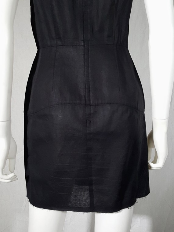 vintage Comme des Garcons black dress with padded hips fall 1998 182426
