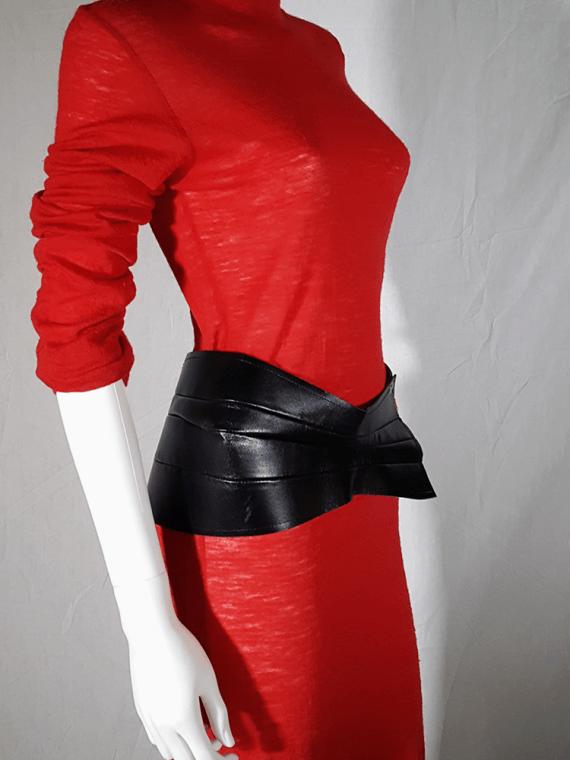vintage Comme des Garcons black wide sculptural belt spring 2010 172906