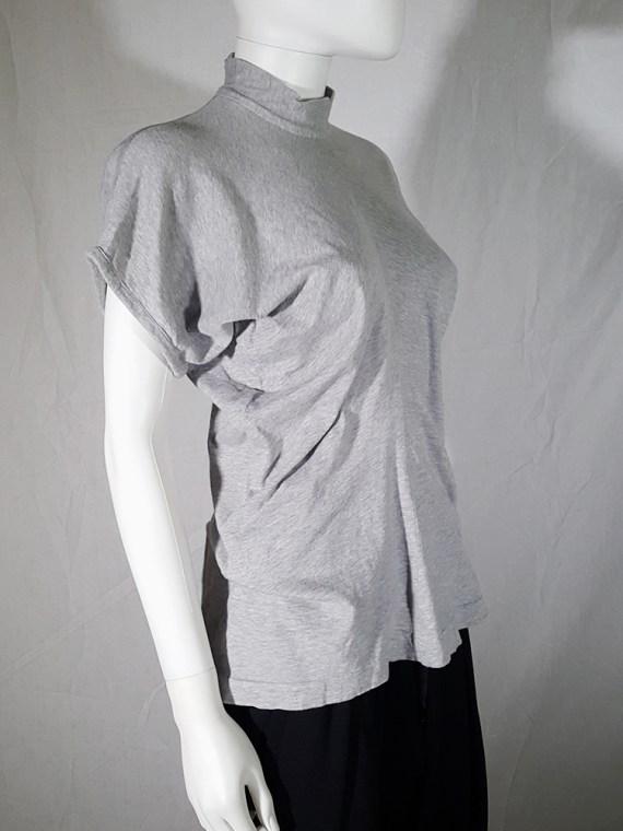 vintage Comme des Garcons grey draped top 1987 1986 145524