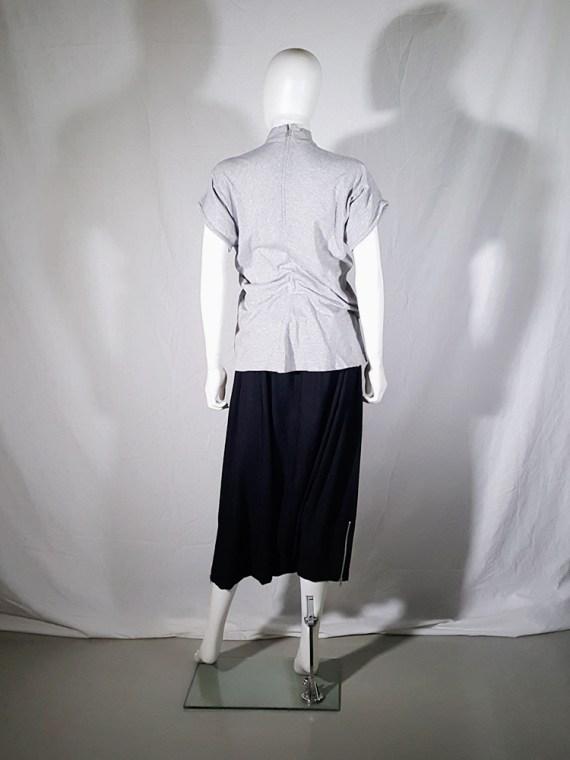 Comme des Garçons grey draped top — 1980's