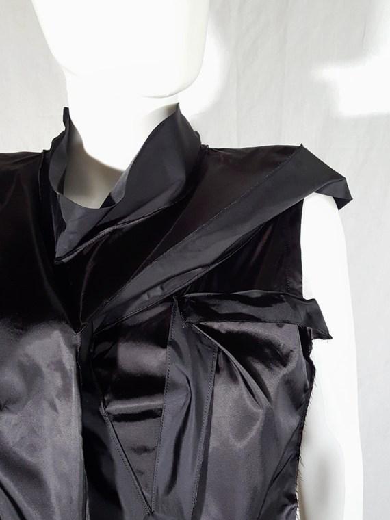 vintage Issey Miyake black dress with 3D block panels 181434