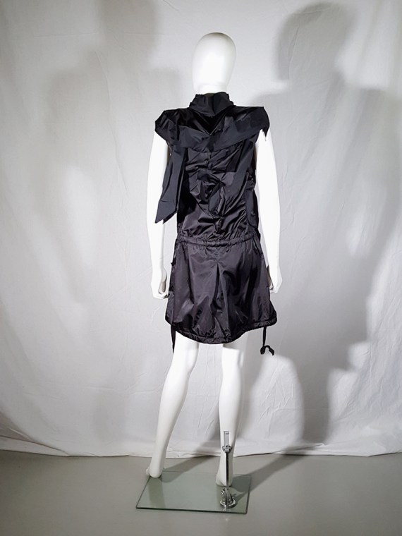 vintage Issey Miyake black dress with 3D block panels 181643