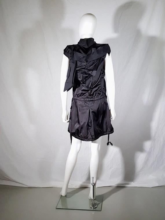 Issey Miyake black dress with 3D block panels