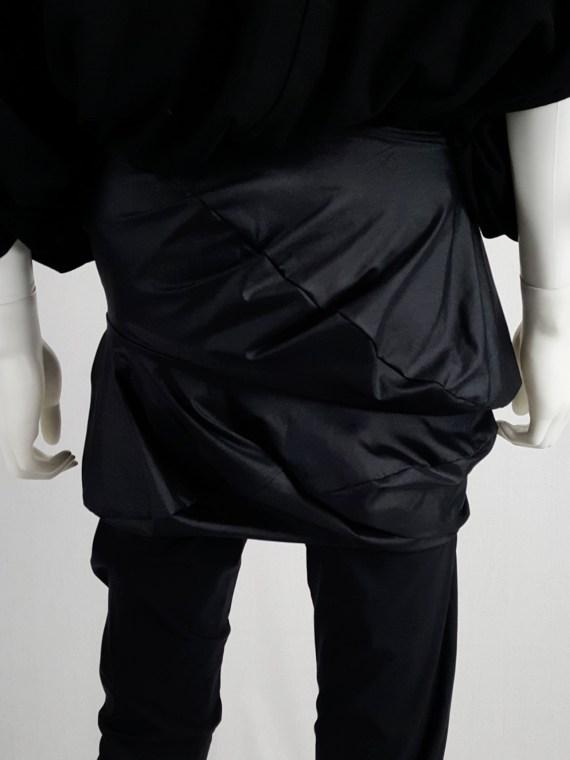 vintage Junya Watanabe black leggings with geometrical skirt fall 2009 140759