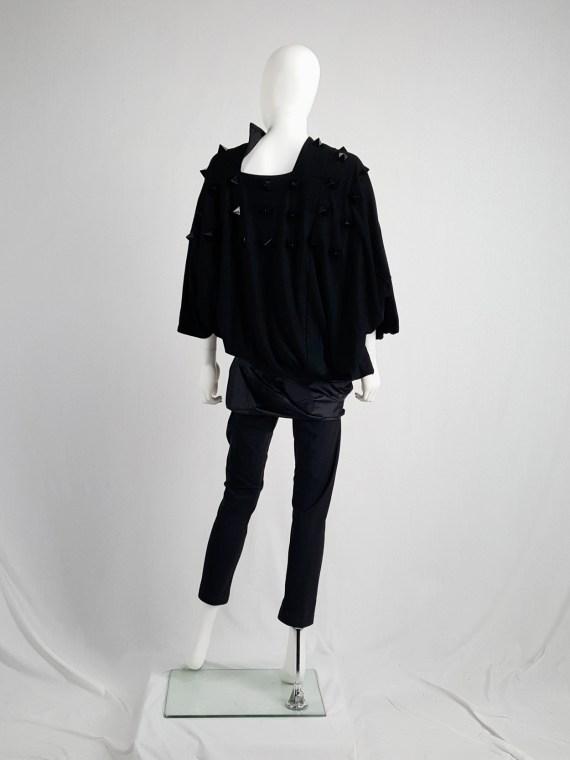 vintage Junya Watanabe black leggings with geometrical skirt fall 2009 140913