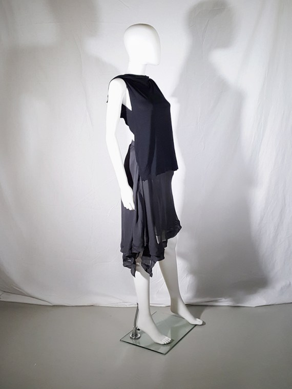 vintage Maison Martin Margiela black backless top spring 2004 183017