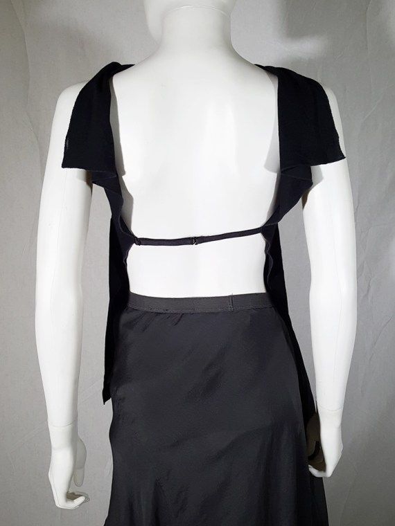 vintage Maison Martin Margiela black backless top spring 2004 183120_001