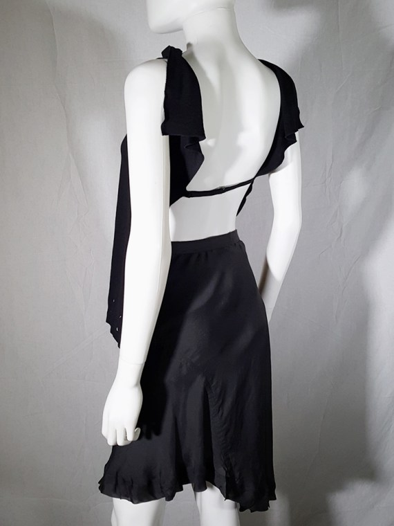 vintage Maison Martin Margiela black backless top spring 2004 183157