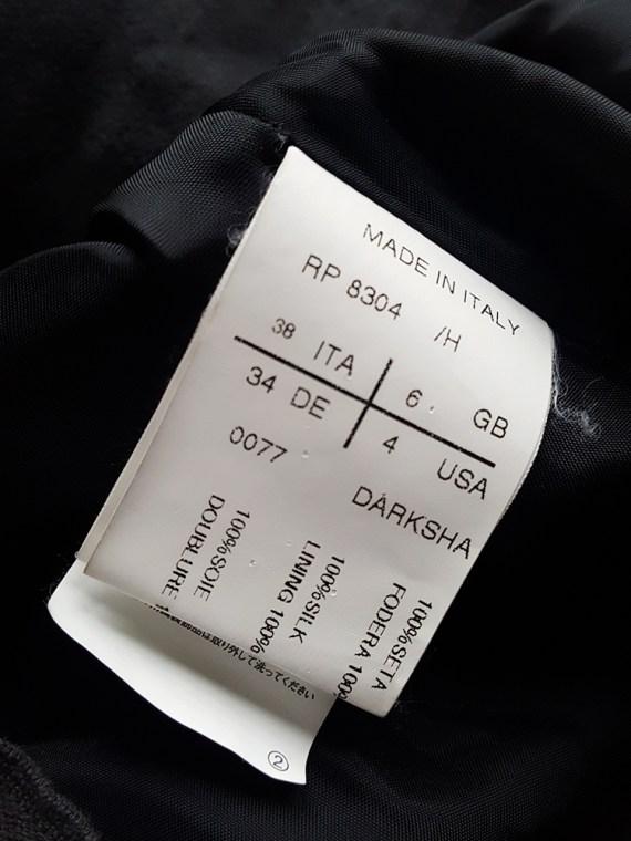 vintage Rick Owens ANTHEM grey asymmetric draped skirt spring 2011 145641