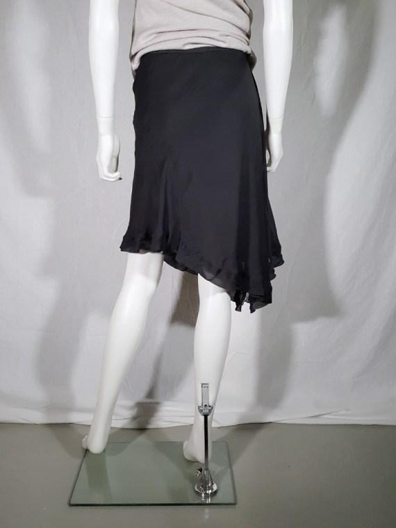 vintage Rick Owens ANTHEM grey asymmetric draped skirt spring 2011 155319