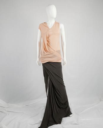 Ann Demeulemeester orange asymmetric draped top