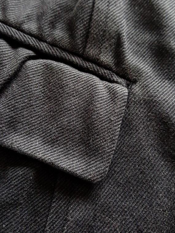 vintage Comme des Garçons black waistcoat spring 1987 121638