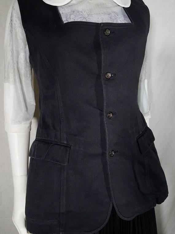 vintage Comme des Garçons black waistcoat spring 1987 171353